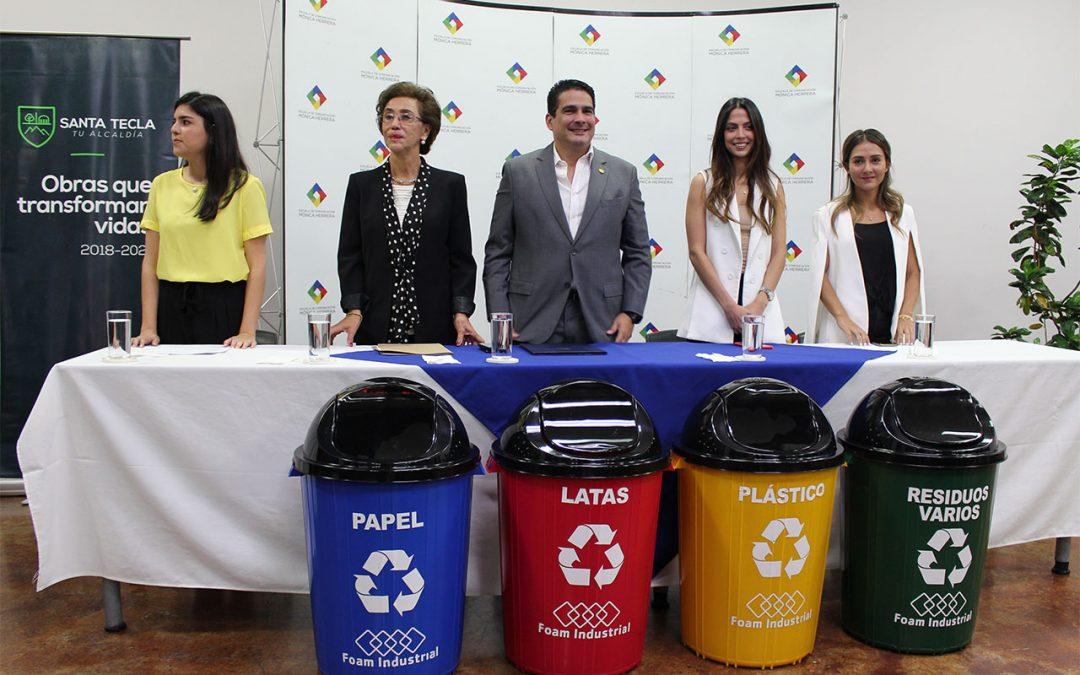 Campaña de reciclaje junto a Alcaldía Municipal de Santa Tecla